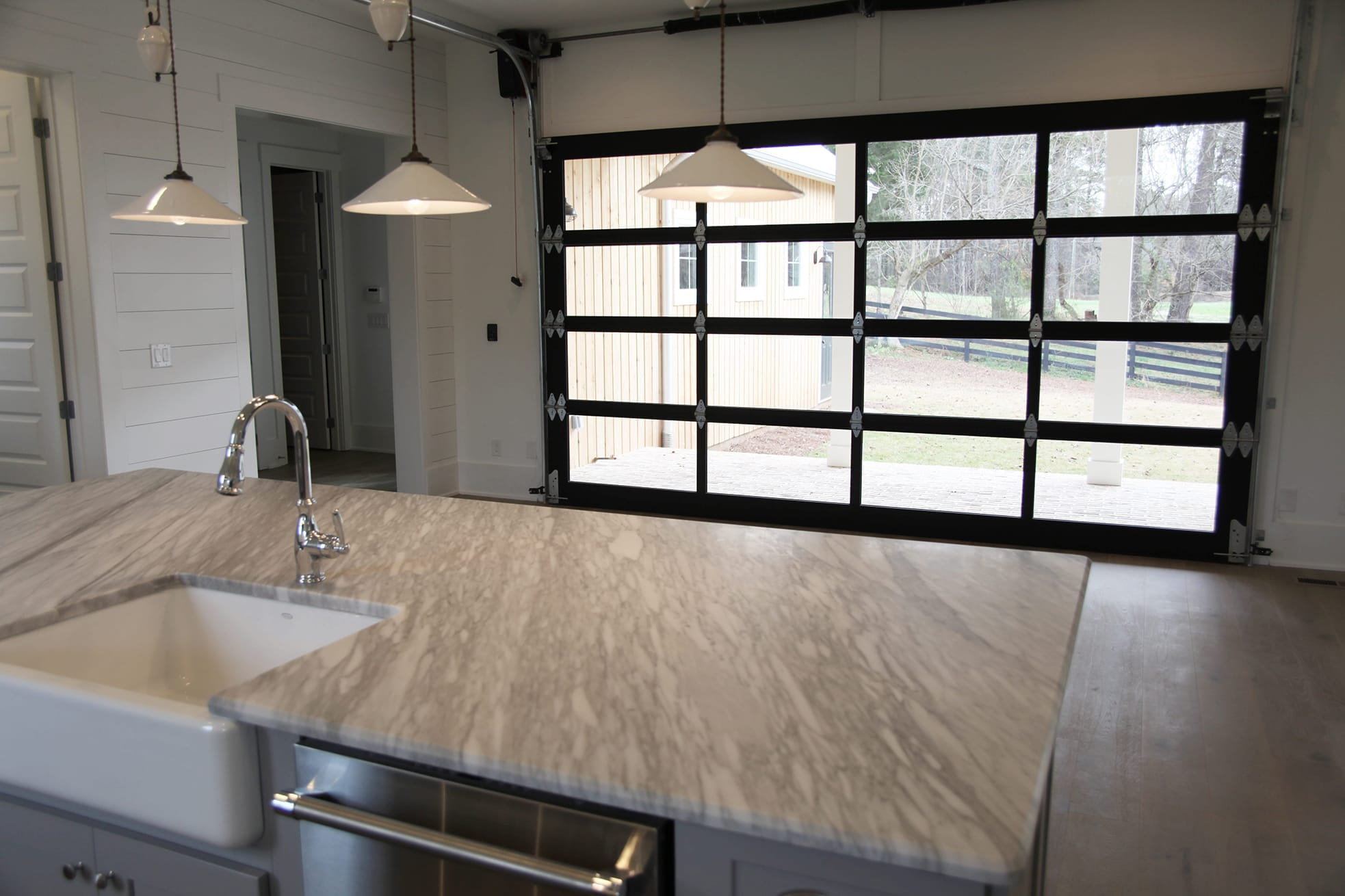 Dining Area Garage Door