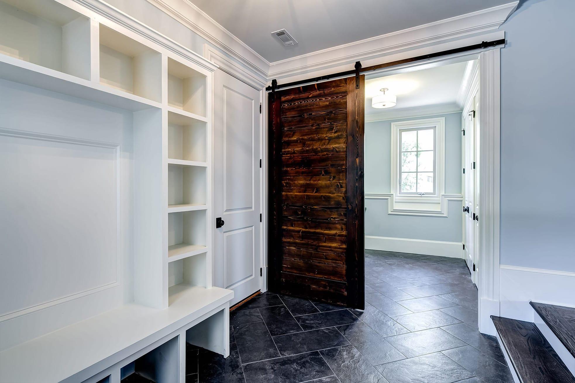 Mudroom with Barn Door