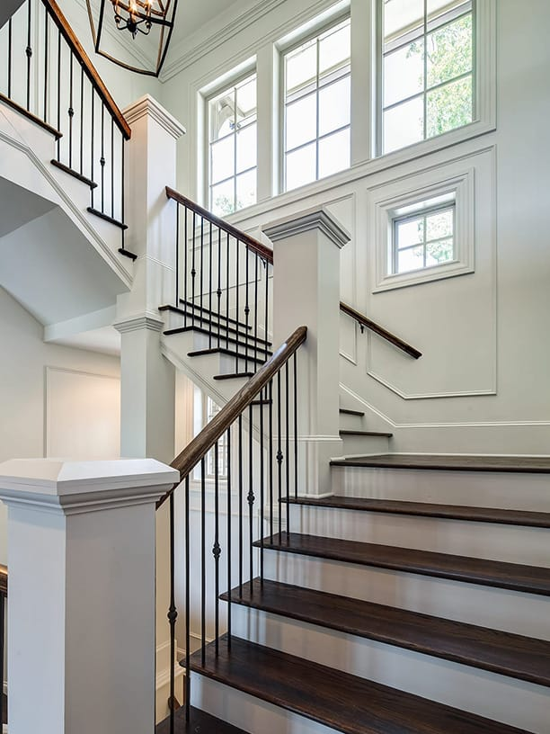 Stair with custom trim